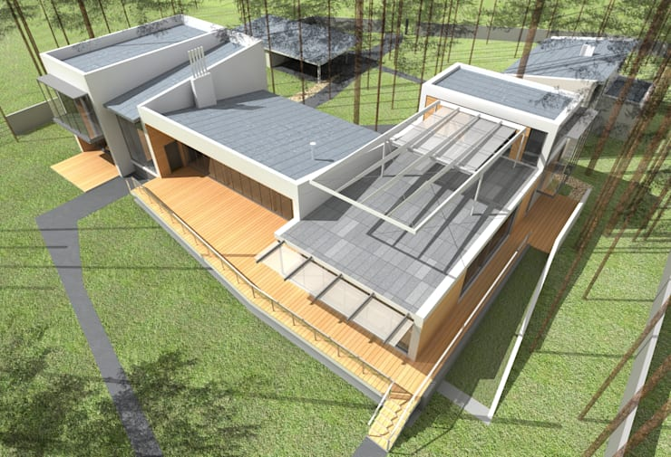 Дом на берегу Финского залива: Дома в . Автор – Format A5 Fontanka, Модерн