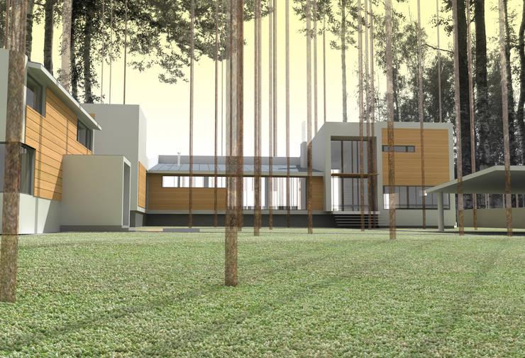 Дом на берегу Финского залива: Зимние сады в . Автор – Format A5 Fontanka, Модерн