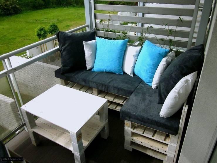 Taras z palet: styl , w kategorii Ogród zaprojektowany przez Palletideas