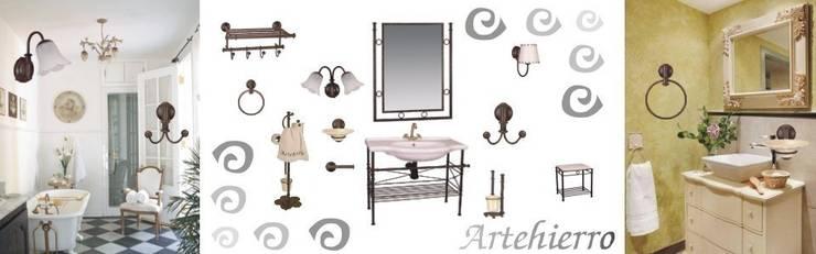 Accesorios baños en forja: Baños de estilo  de Artehierro