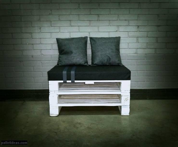 Siedzisko z palet: styl , w kategorii Salon zaprojektowany przez Palletideas