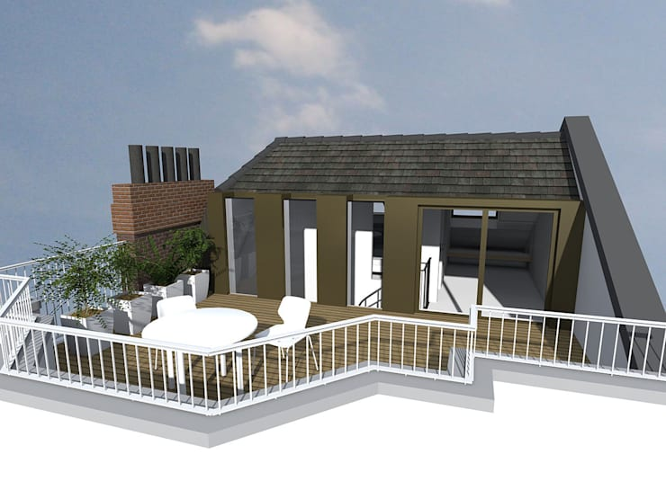 Kensington & Chelsea roof extension:  Houses by Satish Jassal Architects