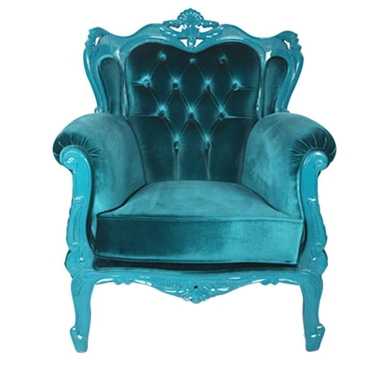 EVMAMBO.COM – Koltuk Oymalı Retro Mavi:  tarz Oturma Odası