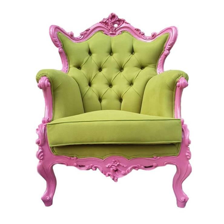 EVMAMBO.COM – Pink Green Retro Koltuk:  tarz Oturma Odası