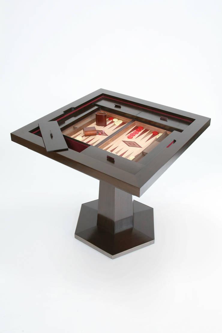 Games Table:  Multimedia room by Rupert Bevan Ltd