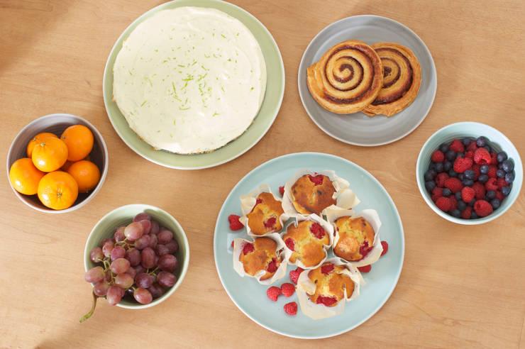 Tactile porcelain tableware:  Dining room by Linda Bloomfield