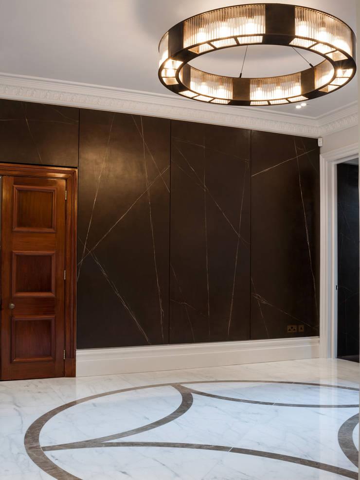 Cracked Gesso Wall Panels:  Walls by Rupert Bevan Ltd