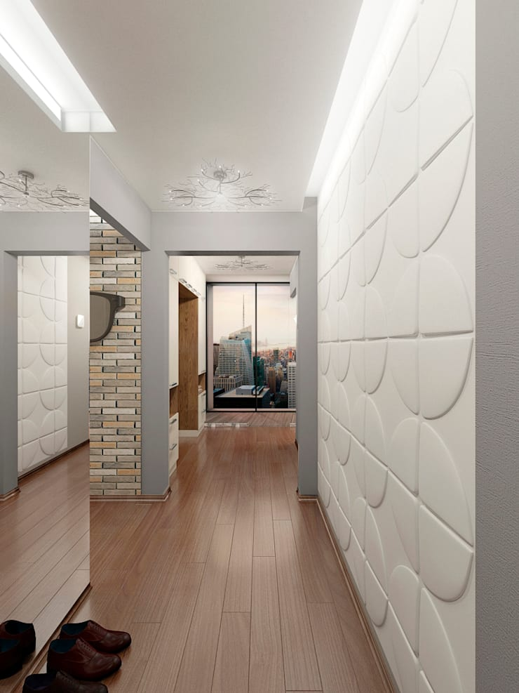 Дизайн-проект интерьера прихожей-коридора.: Коридор и прихожая в . Автор – ИнтеРИВ