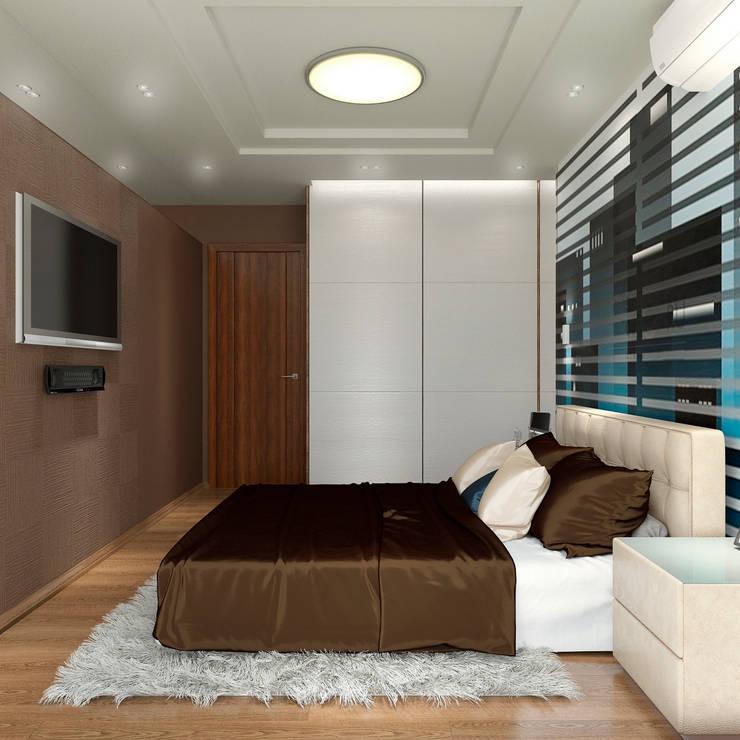 Дизайн-проект интерьера спальни.: Спальни в . Автор – ИнтеРИВ