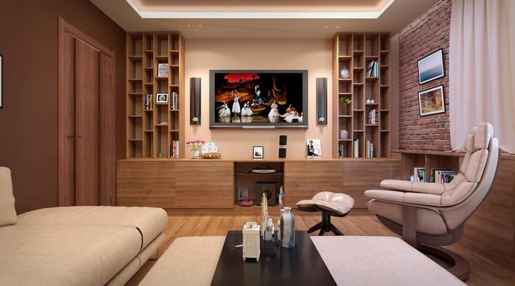 Дизайн-проект интерьера гостиной.: Гостиная в . Автор – ИнтеРИВ