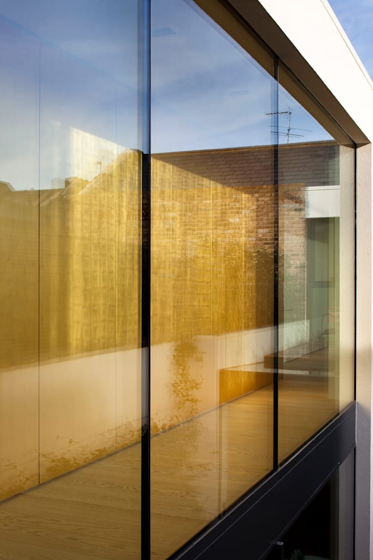 Gold Gilded Wall Panelling:  Walls by Rupert Bevan Ltd