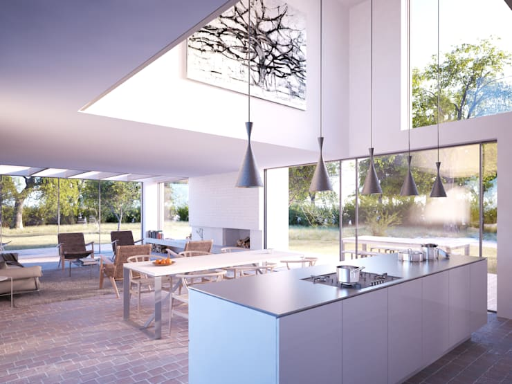 Woodpeckers:  Kitchen by Strom Architects