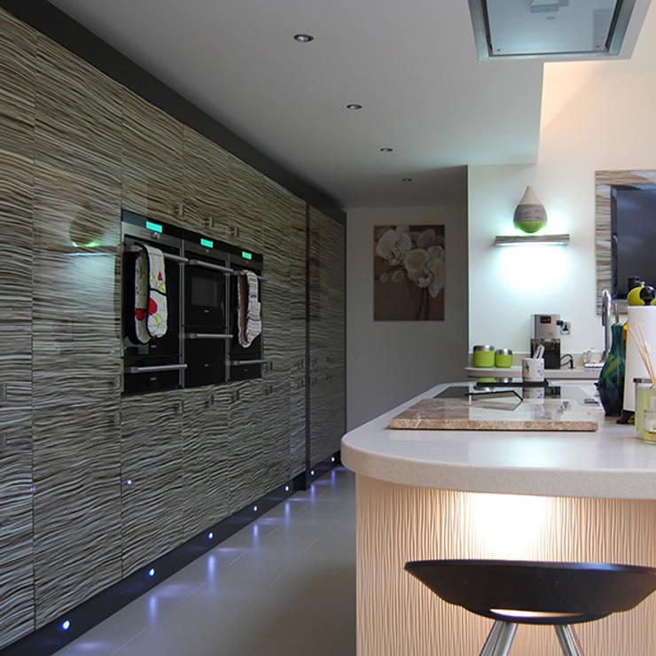 Zebrano bank of units:  Kitchen by Nest Kitchens