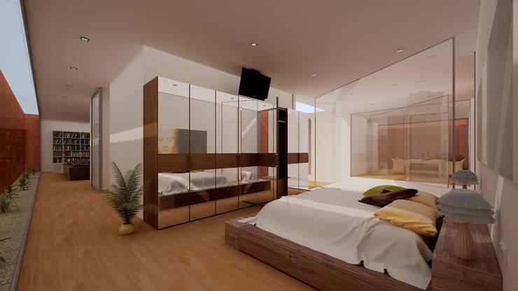 Vivienda 1+1: Dormitorios de estilo  de GodoyArquitectos