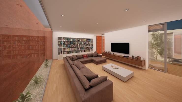 Vivienda 1+1: Salones de estilo  de GodoyArquitectos