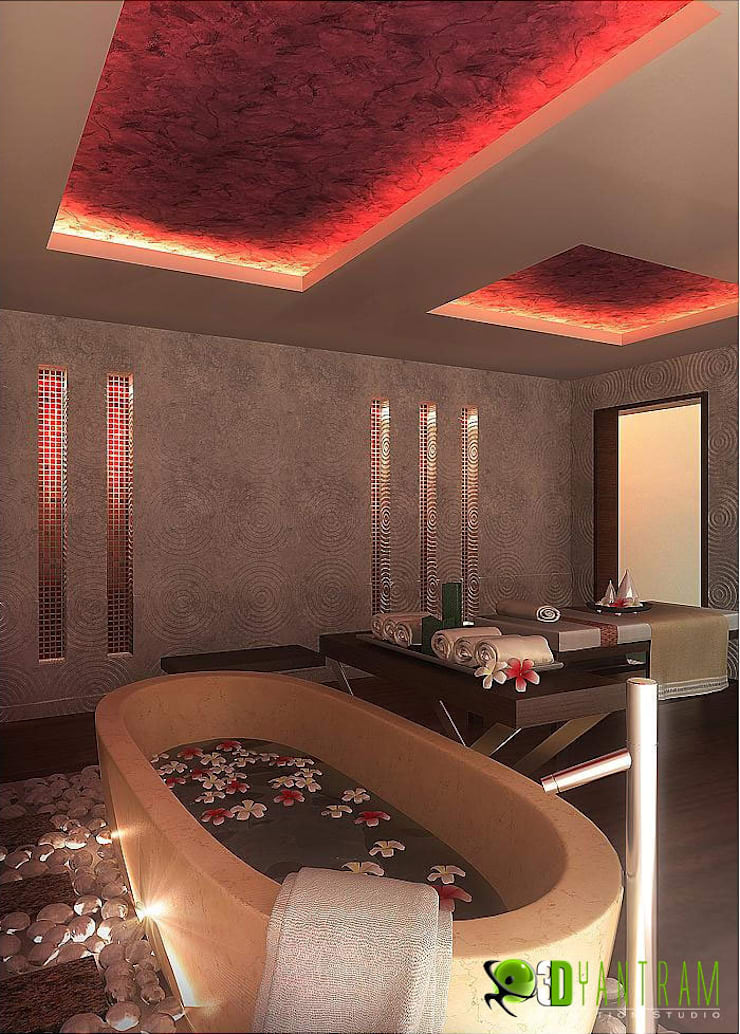 Kommerzielle 3D Interior Rendering Spa:  Hotels by Architectural Design Studio