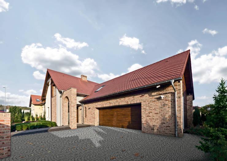 elewacja: styl rustykalne, w kategorii Domy zaprojektowany przez Pracownia Świętego Józefa