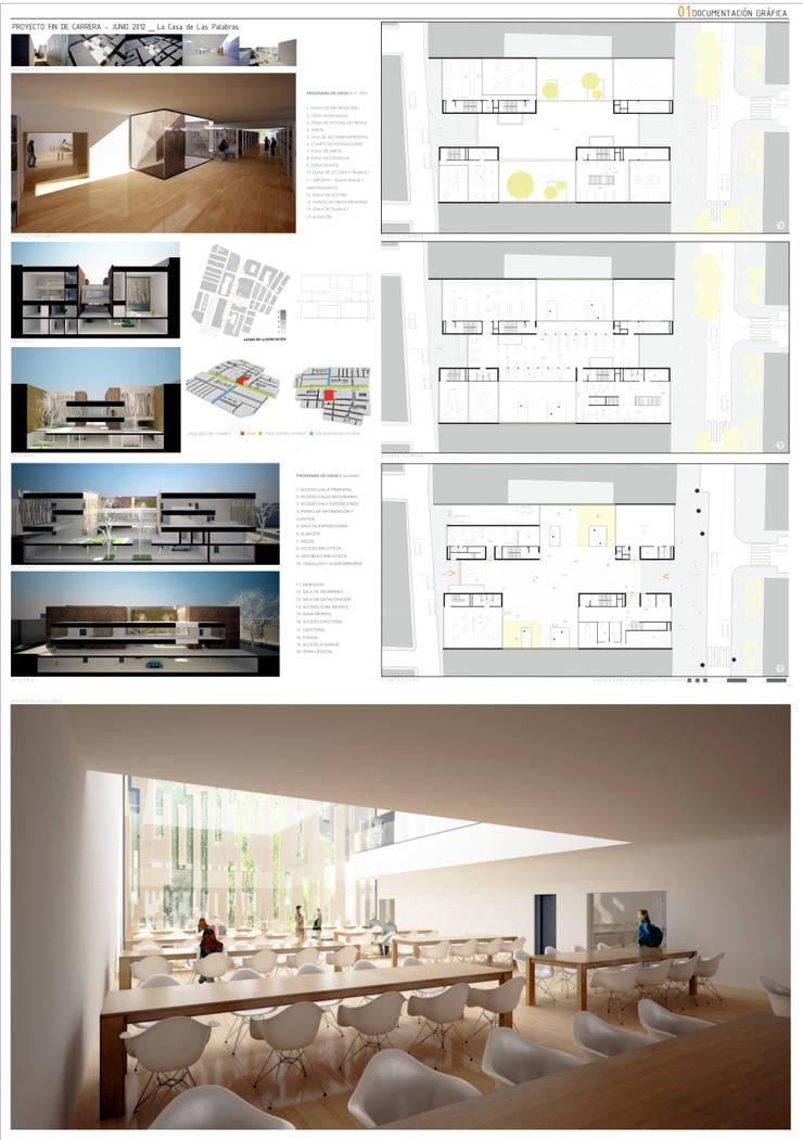 Biblioteca Pública:  de estilo  de GodoyArquitectos