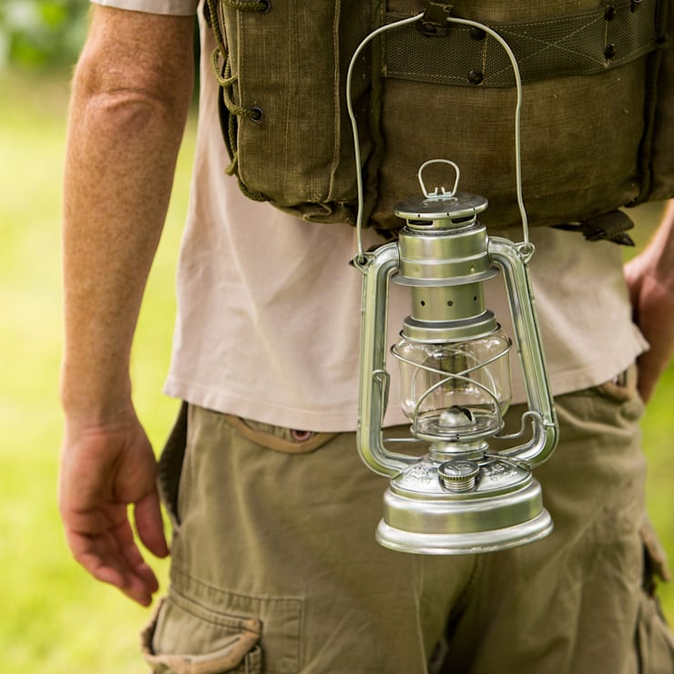 Hurricane Lamp:  Garden  by Hen and Hammock