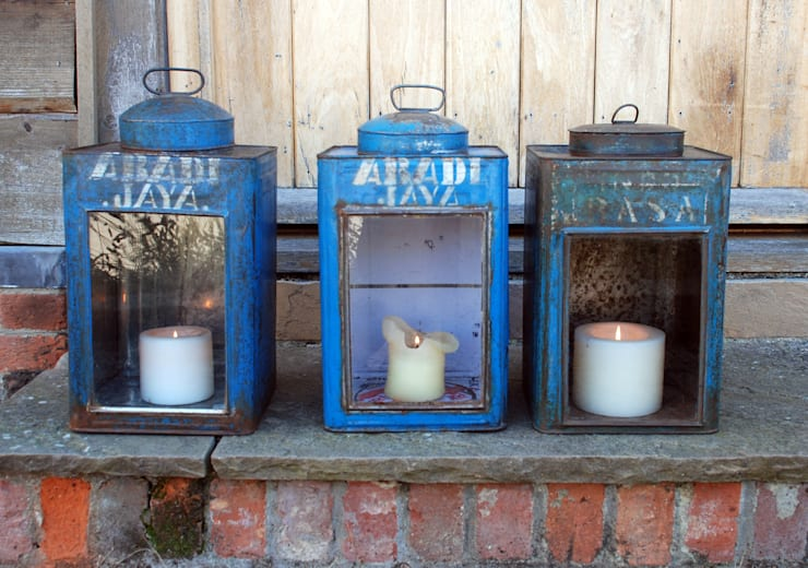 Vintage Caddy Lanterns:  Garden  by Hen and Hammock