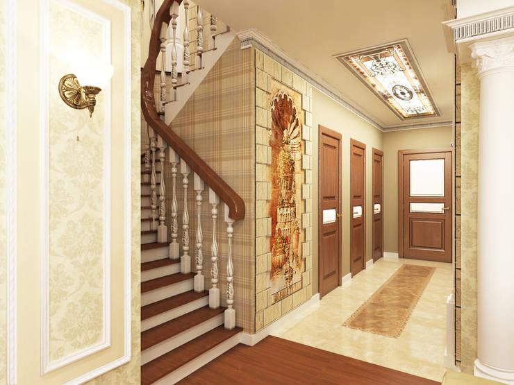 Дизайн-проект холла-коридора.: Коридор и прихожая в . Автор – ИнтеРИВ