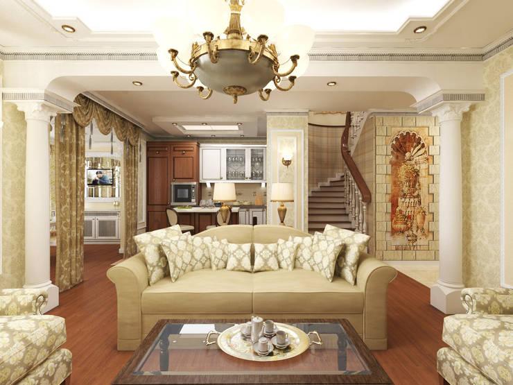 Дизайн-проект гостиной.: Гостиная в . Автор – ИнтеРИВ