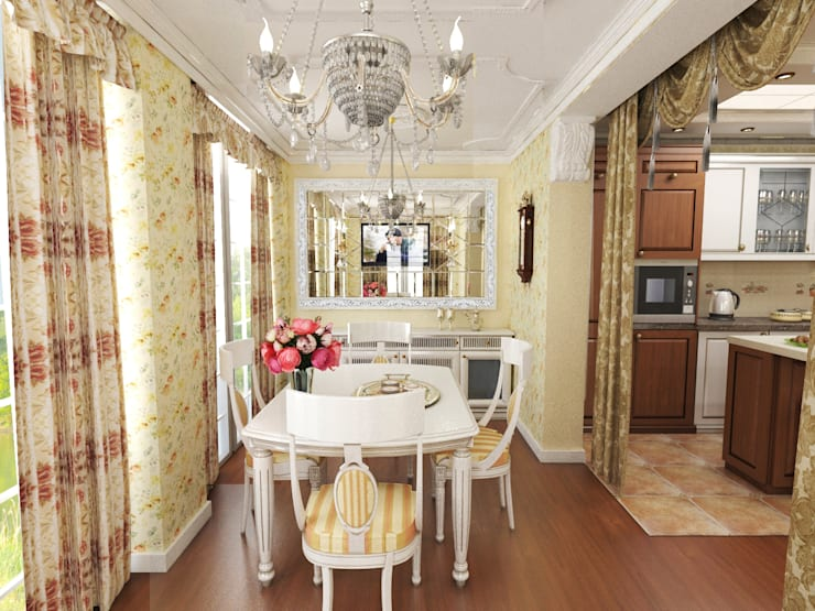 Dining room by ИнтеРИВ, Classic
