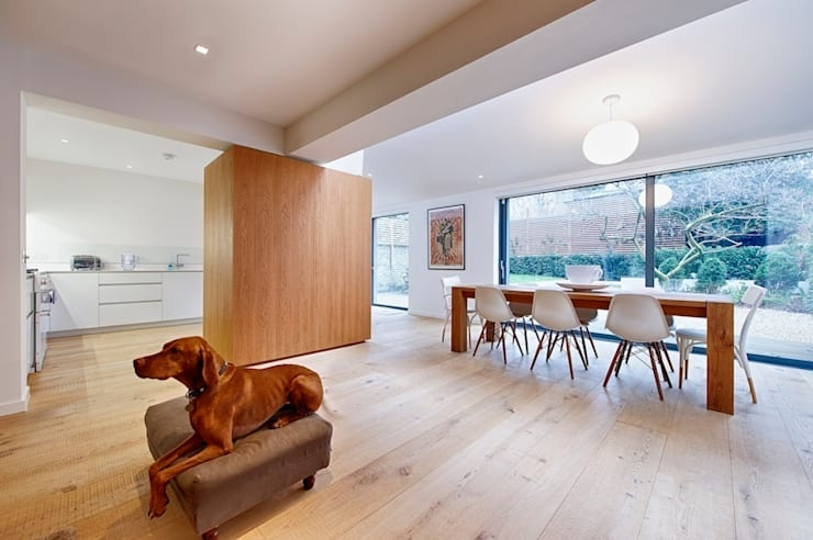 Dining Area:  Dining room by Belsize Architects