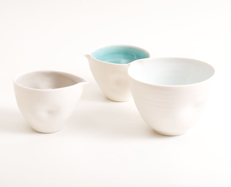 Handmade pouring bowls:  Dining room by Linda Bloomfield