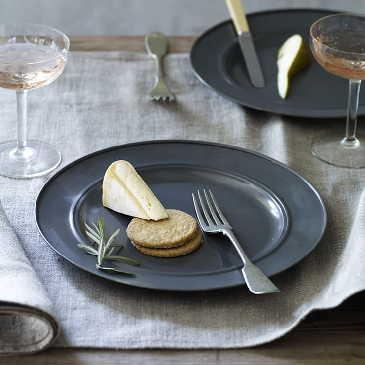 Kestle Zinc Plates, Set of Four:  Kitchen by Rowen & Wren