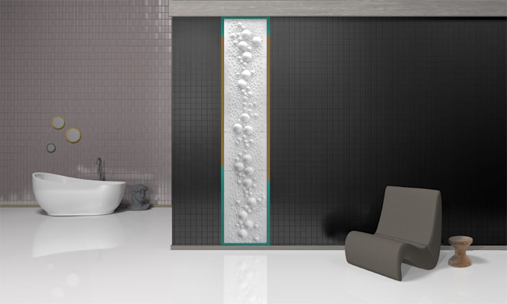 Kompozycja Ice balls: styl , w kategorii Łazienka zaprojektowany przez Grześkiewicz Design Studio