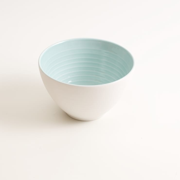 Tactile porcelain bowl :  Dining room by Linda Bloomfield