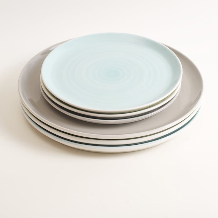 Tactile porcelain plate:  Dining room by Linda Bloomfield