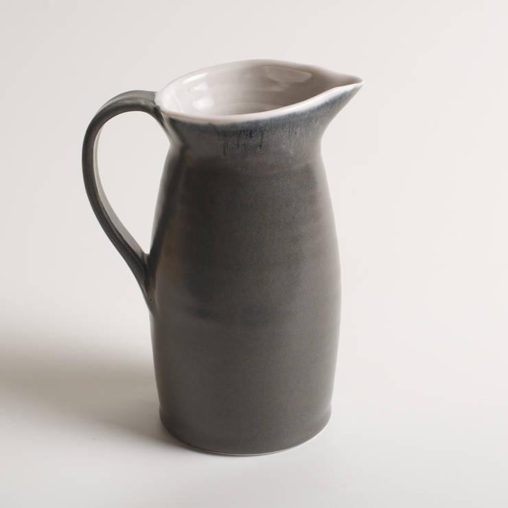 Handmade porcelain jugs:  Artwork by Linda Bloomfield
