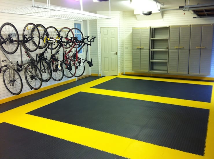 Tiled floor - a great solution for the garage:   by Garageflex