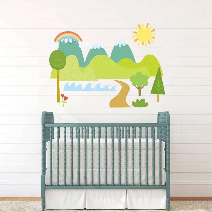 Vinilo decorativo Pop up scenes: Habitaciones infantiles de estilo  de Chispum