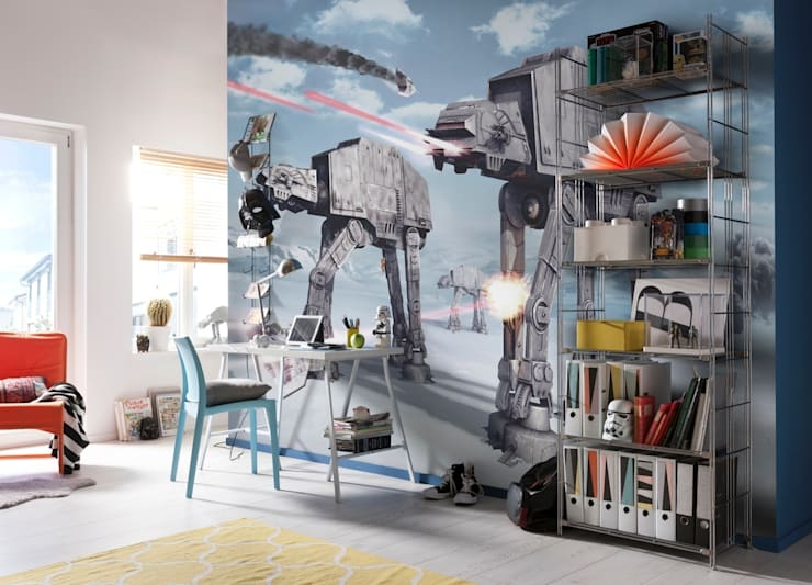 Star Wars Photomural 'Battle of Hoth' ref 8-481:  Walls & flooring by Paper Moon