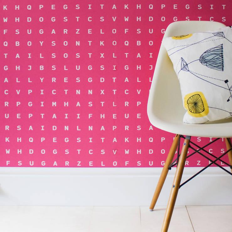 Sugar & Slugs Wallpaper - Raspberry:  Walls & flooring by Identity Papers
