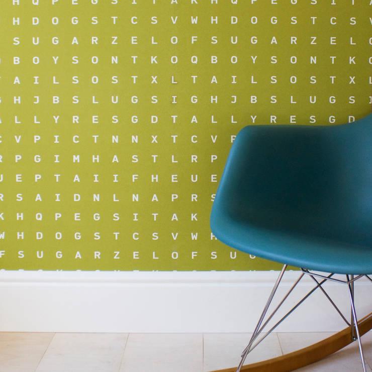 Sugar & Slugs Wallpaper - Sap:  Walls & flooring by Identity Papers