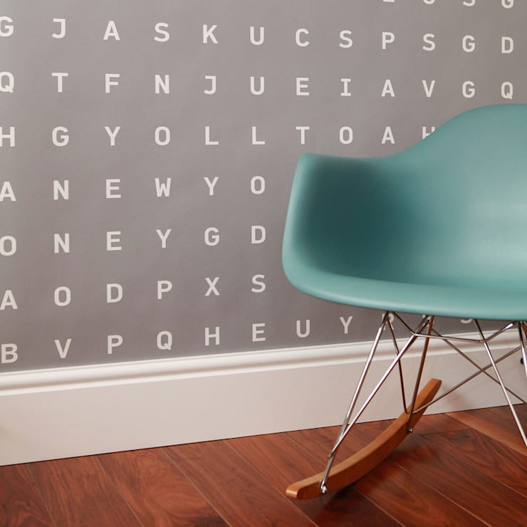 Custom Word Search Wallpaper:  Walls & flooring by Identity Papers