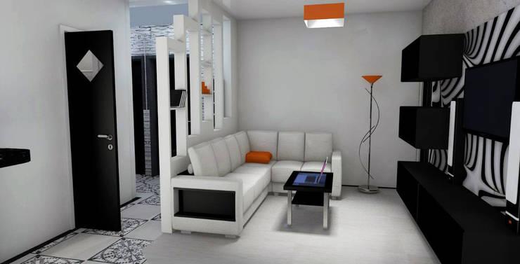 Гостиная:  в . Автор – Мастерская Дизайна