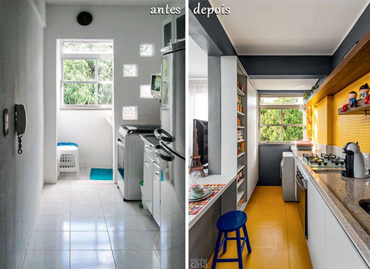 PROJETO COZINHA APARTAMENTO MB – Tristeza/ Porto Alegre:   por Ambientta Arquitetura