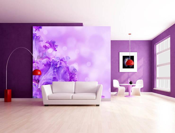 Fototapete Violet Summer: Wohnzimmer Von Trendwände
