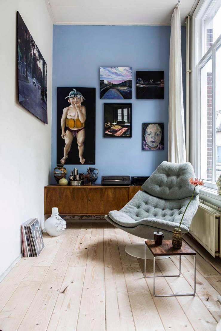 interieur- en kleuradvies:  Woonkamer door studio zipp, Eclectisch