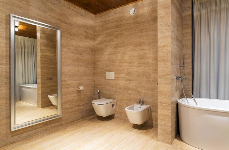 Banheiros escandinavos por ALEXANDER ZHIDKOV ARCHITECT