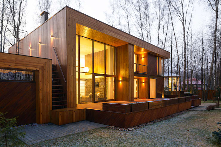 scandinavian Houses by  Aleksandr Zhydkov Architect