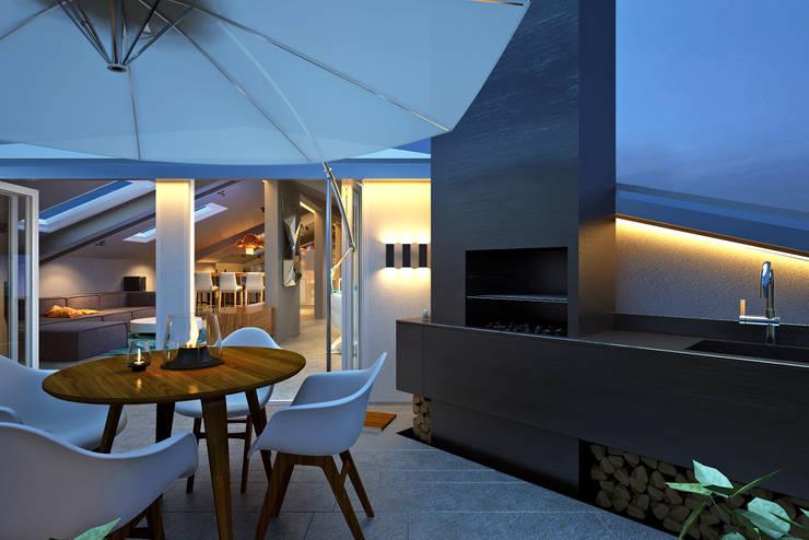 Terrazas de estilo  por lab21studio