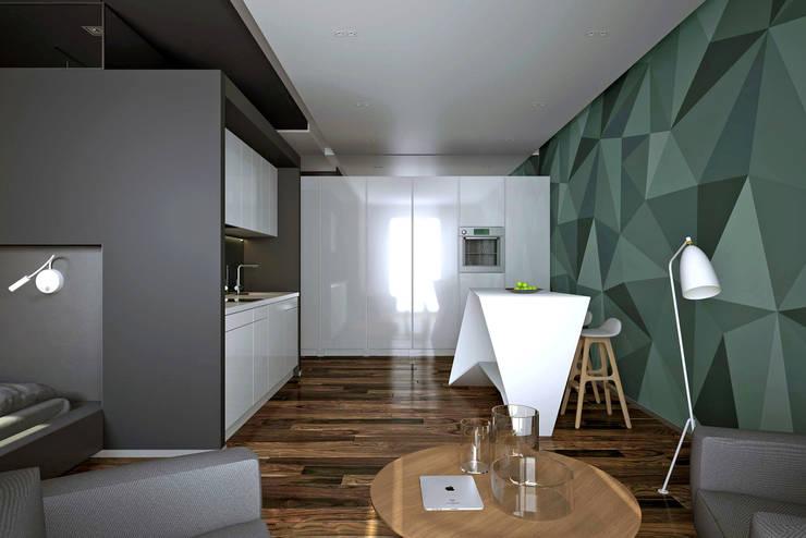Квартира в ЖК Ромашково: Гостиная в . Автор – lab21studio