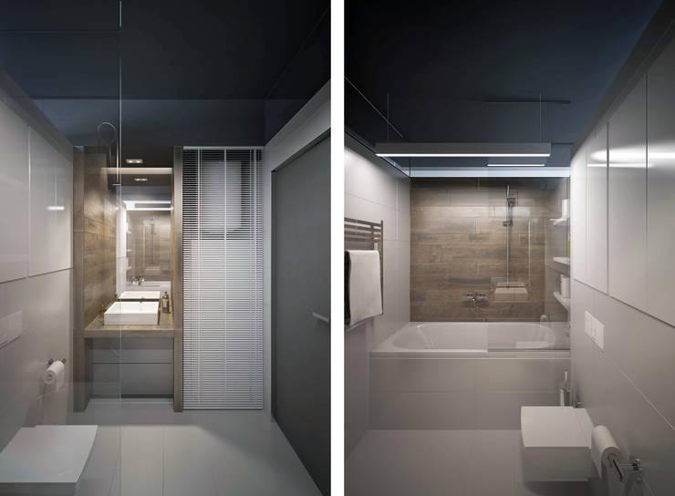 Квартира в ЖК Ромашково: Ванные комнаты в . Автор – lab21studio