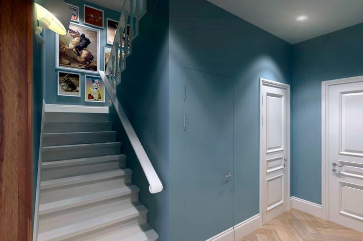 Лестница: Коридор и прихожая в . Автор – lab21studio